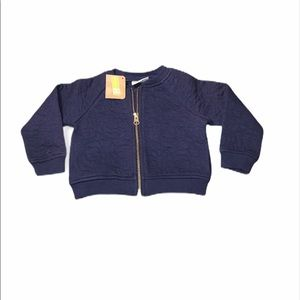 Crazy 8 Quilted Zip-Up Blue size 12-18 months